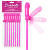 Pipedream Bachelorette Party Bendable Pecker Straws Penis Straws 8 Pack Pink PD6614 00 603912747942 Multiview