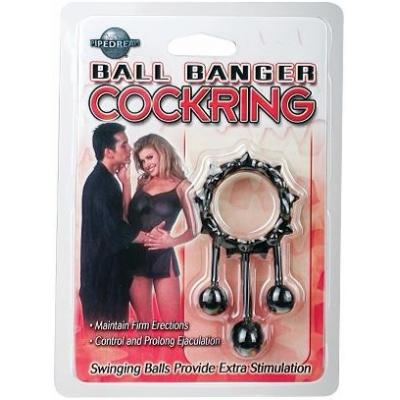 Pipedream- Ball Banger Cockring Black PD2272-23 603912200904