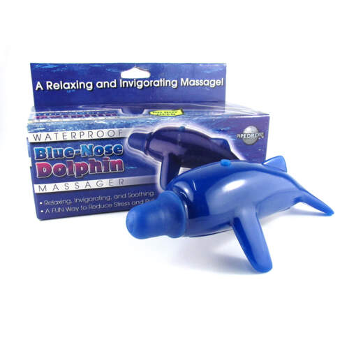 Pipedream Blue Nose Dolphin Waterproof Massager PD3019-00 603912184242