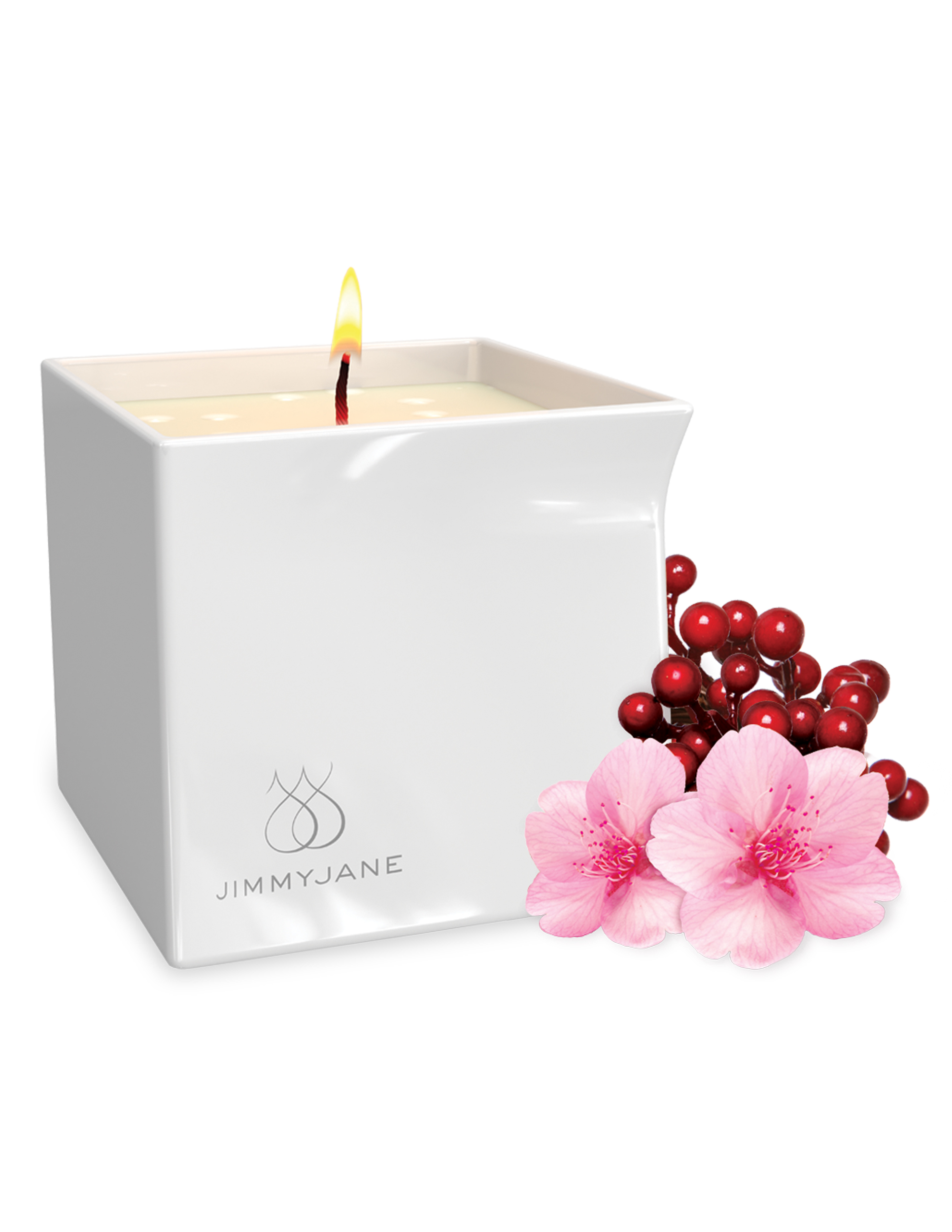 Pipedream Jimmyjane Afterglow Massage Candle Berry Blossom JJ11739-01 603912754995