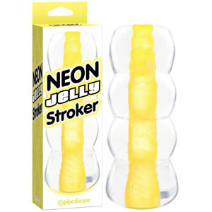 Pipedream NEON Jelly Stroker Yellow PD3115-18 603912299373