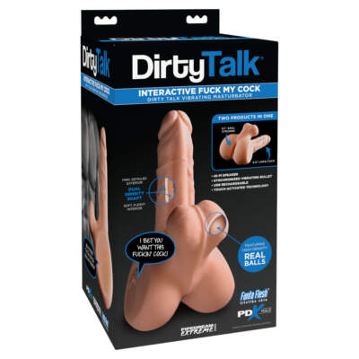 Pipedream PDX Male Dirty Talk Interactive Fuck My Cock Light Flesh PD3787 21 603912760392 Boxview