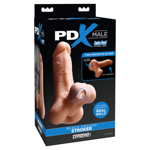 Pipedream PDX Male Reach Around Stroker Light Flesh PD3788 21 603912760415 Boxview