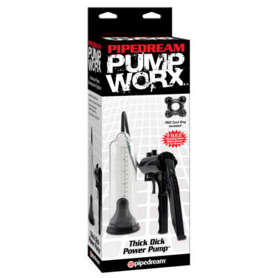 Pipedream Pumpworx Thick Dick Power Pump Clear PD3278 23 603912318791 Boxview