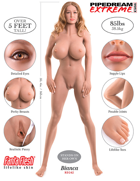 Ultimate Fantasy Love Dolls - Bianca, Lifesize Hyper-Realistic Doll