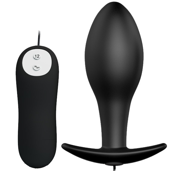Pretty Love Special Anal Stimulation Vibrating Butt Plug Black BI-040038 6959532317770