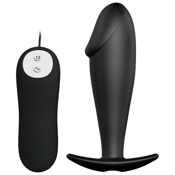 Pretty Love Special Anal Stimulation Vibrating Butt Plug Black BI-040040 6959532317794