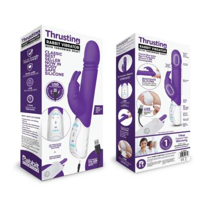 Rabbit Essentials Thrusting Rabbit Vibrator Purple RR-008PUR