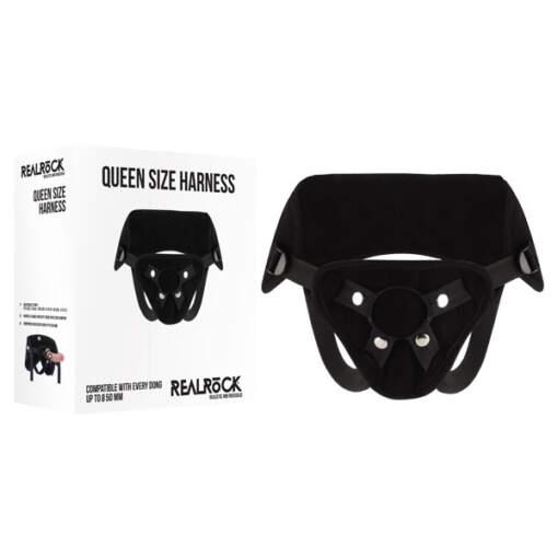 RealRock Queen Size Strap On Harness Black REA048 8714273791054