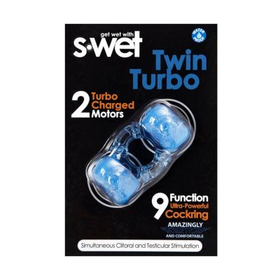 S-wet Twin Turbo Cock Ring Blue BT-M14BL 9342851000176