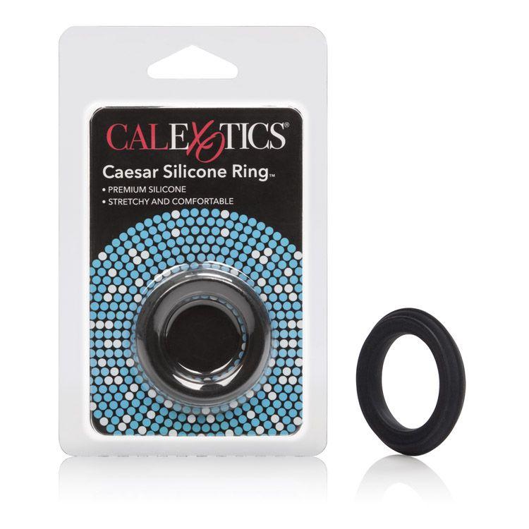 Calexotics Silicone Caesar Cock Ring Black SE-1368-15-2 716770062352