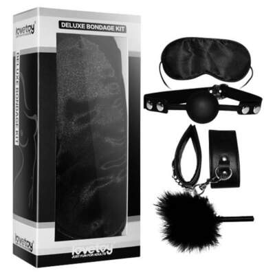 Deluxe Bondage Kit - Black - 4 Piece Set - SM1007