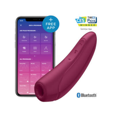 Satisfyer Curvy 1 Plus App Enabled Air Pulse Stimulator Burgundy Red 160186 4061504001821 App Detail