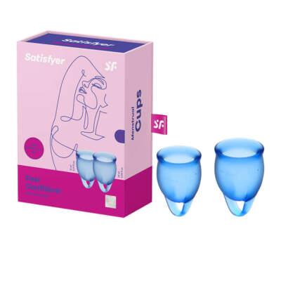 Satisfyer Feel Confident Menstrual Cup 2 Pack Dark Blue SAT MC FC DBLU 4061504002057 Multiview