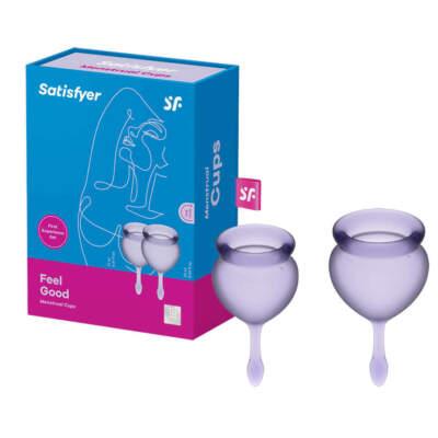 Satisfyer Feel Good Menstrual Cup 2 Pack Purple SAT MC FG PUR 4061504002101 Multiview