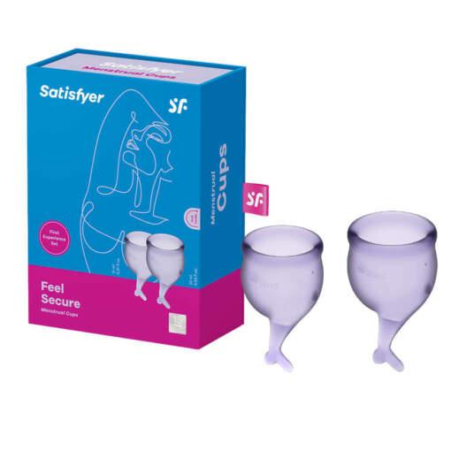 Satisfyer Feel Secure Menstrual Cup 2 Pack Purple SAT MC FS PUR 4061504002248 Multiview