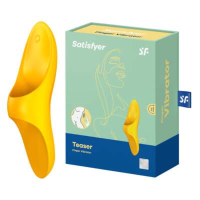 Satisfyer Teaser Finger Vibrator Yellow 4004082 SATTSRFGRYLW 4061504004082 Multiview