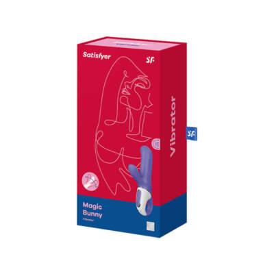 Satisfyer Vibes Magic Bunny Rabbit Vibrator Purple SATVIBMB 4049369016464 Boxview