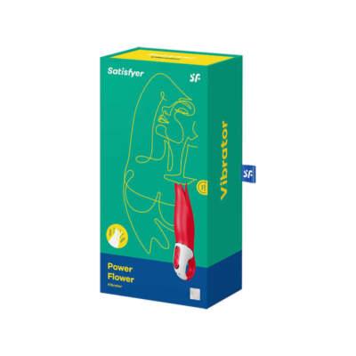 Satisfyer Vibes Power Flower Vibrator Red SATVIBPF 4049369016488 Boxview
