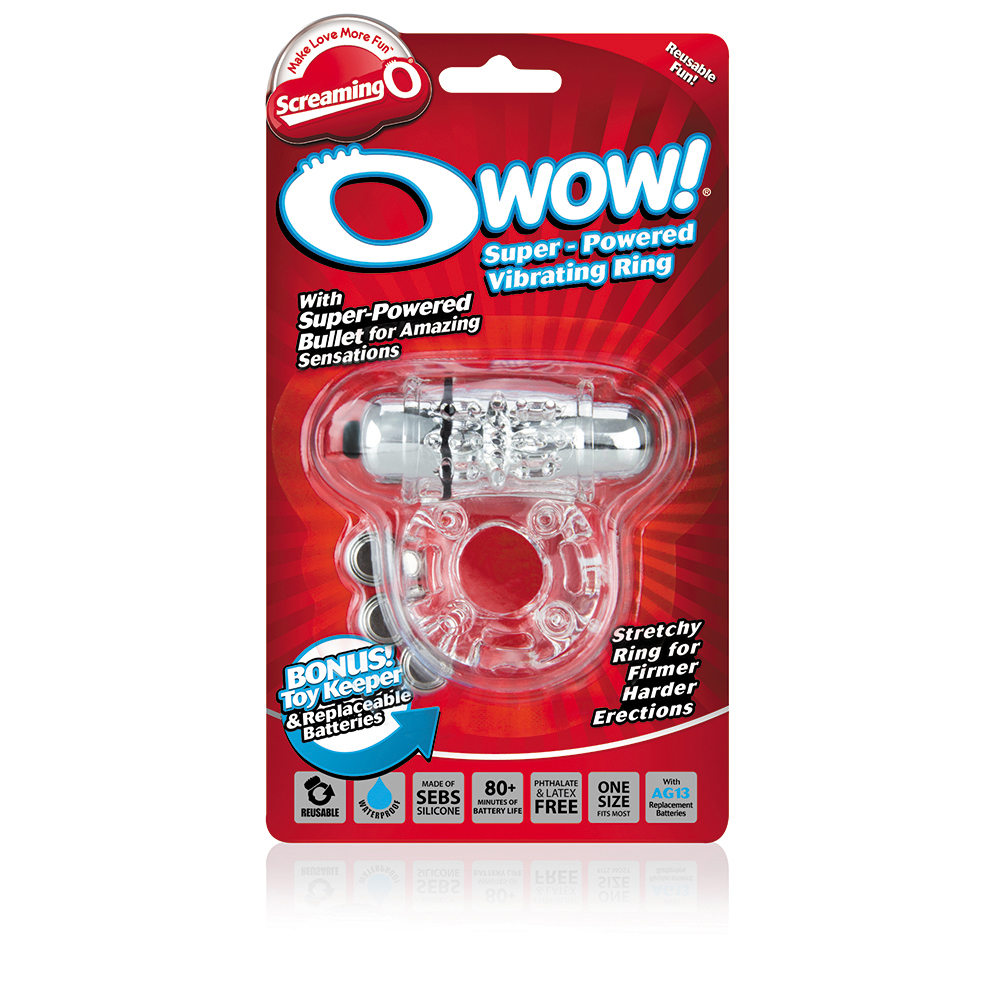 Screaming O O-Wow Vibrating Ring Clear OW-C-101