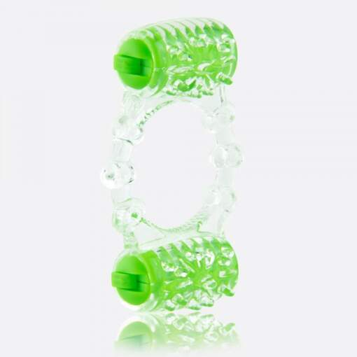 Screamingo ColorPop Quickie Two O Dual Vibrating Cock Ring Green CP-TWO-GN-101