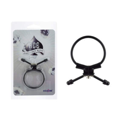 Seven Creations Ace Erection Ring Cinch Lasso Cock Ring Black 21-46BLK 4890888136009