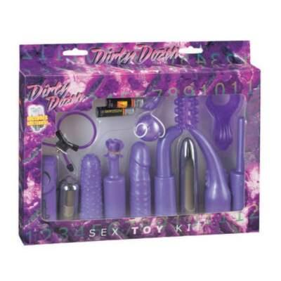 Seven Creations Dirty Dozen Couples Vibrator Kit Purple 4040MKJ D5 4890888118333 Boxview