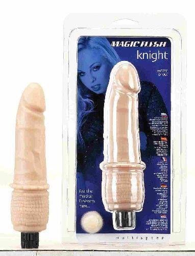 Seven Creations Magic Flesh Knight Penis Vibrator Light Flesh 14 14FL 4890888127137 Multiview