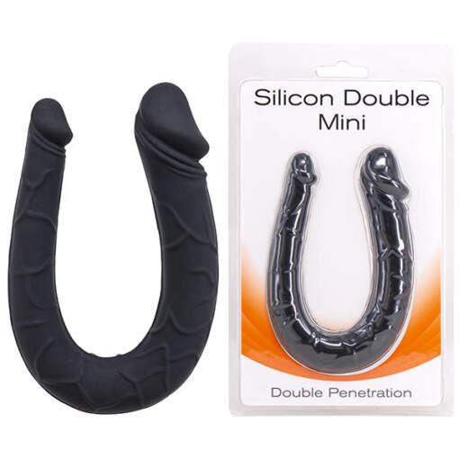 Seven Creations Silicon Double Dong Silicone Black F0185B10PGCS 6946689011279