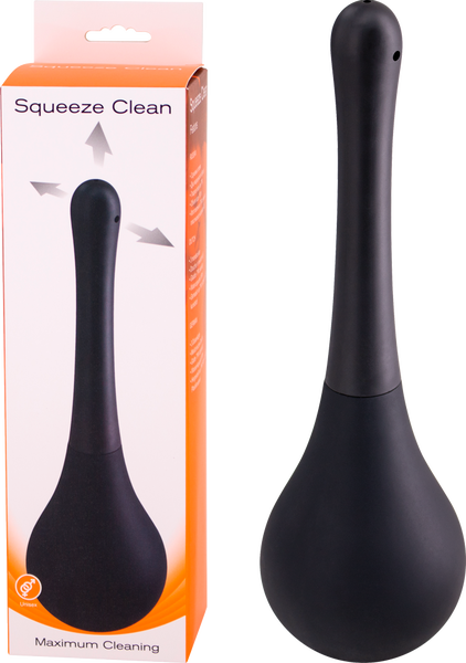 Seven Creations Squeeze Clean Anal Douche Cleanser Black F0069B10PGBX 6946689011682 Multiview