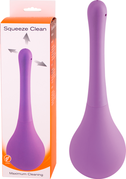 Seven Creations Squeeze Clean Anal Douche Cleanser Purple F0069P90PGBX 6946689011675 Multiview