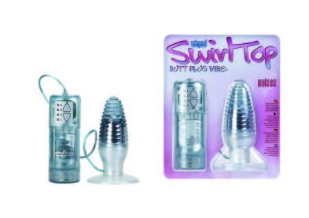 Seven Creations Swirl Top Vibrating Butt Plug Blue 05 177LBLU BCD 4890888123931 Multiview