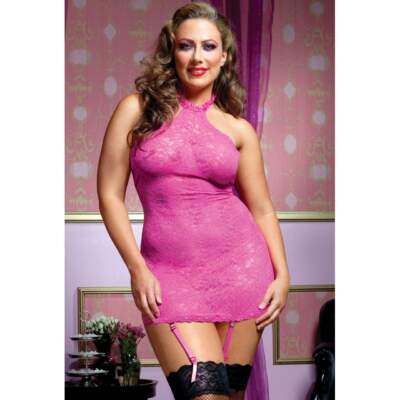 Seven Til Midnight Pink Martini Chemise Queen Size STM-9506-XP 815364465019