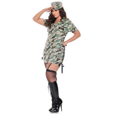 Seven Til Midnight Private Time Army Uniform Costume Plus Size 3X 4X STM 10281X 815364436873 Front Detail
