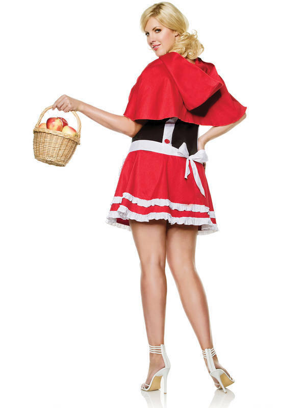 Seven Til Midnight Red Riding Hood Costume Plus Size 1X 2X STM 10185X 815364185047 Back Detail