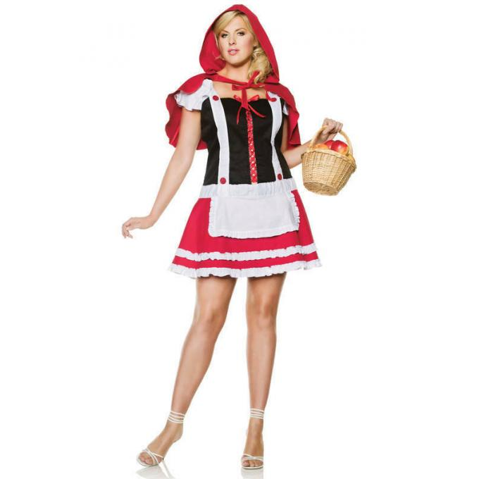 Seven Til Midnight Red Riding Hood Costume Plus Size 1X 2X STM 10185X 815364185047 Front Detail