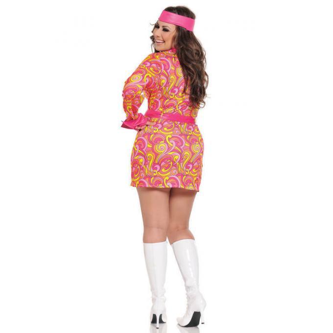 Seven Til Midnight Retro Hippie Costume 3pc Plus Size STM 10303X Back Detail