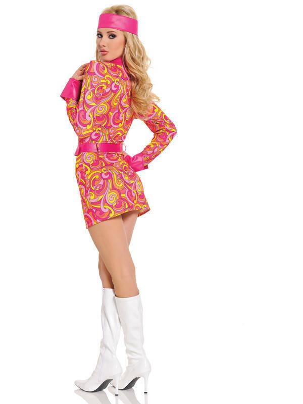 Seven Til Midnight Retro Hippie Costume 3pc STM 10303 Back Detail