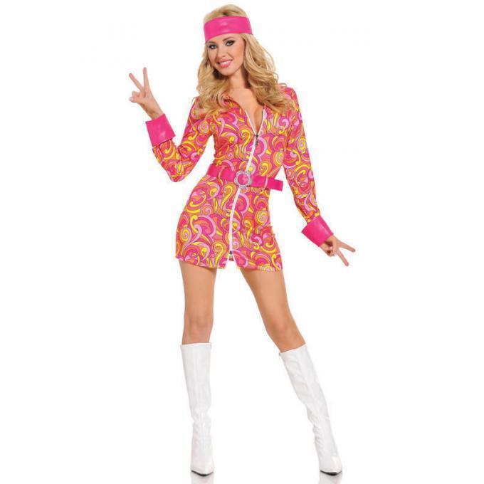 Seven Til Midnight Retro Hippie Costume 3pc STM 10303 Front Detail