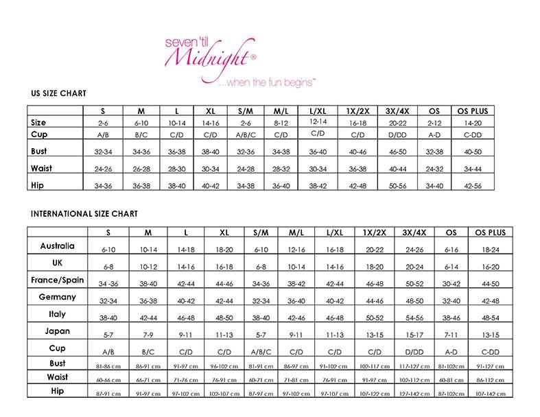 Seven Til Midnight Size Chart