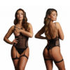 Shots Le Desir Bliss Open Cup Strappy Teddy OS Black BLS002BLKOS 7423522456477 Multi Detail