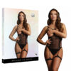Shots Le Desir Bliss Open Cup Strappy Teddy OS Black BLS002BLKOS 7423522456477 Multiview