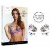 Shots Le Desir Bliss Strappy Tie Dye Halter Top Dazzling Eye Sparkle Bling Sticker OS Tie Dye Multicoloured BLS006MULOS 7423522448465 Multiview