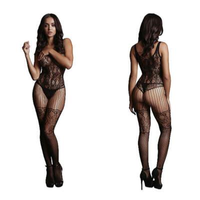 Shots Le Desir Lace Pattern Bodystocking OSFM DES011BLKOS 8714273495334 Detail