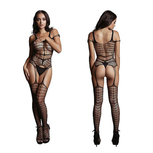 Shots Le Desir Shredded Style Bodystocking OSFM DES021BLKOS 8714273495433 Detail