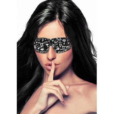 Shots Ouch Graffiti Printed Eye Mask OU331BLK 8714273549150