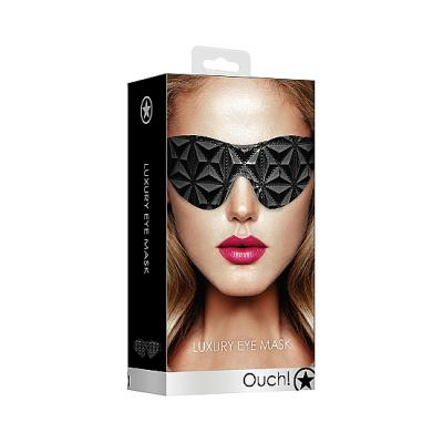 Shots Ouch Luxury Eye Mask Black OU348BLK 8714273525307 Boxview
