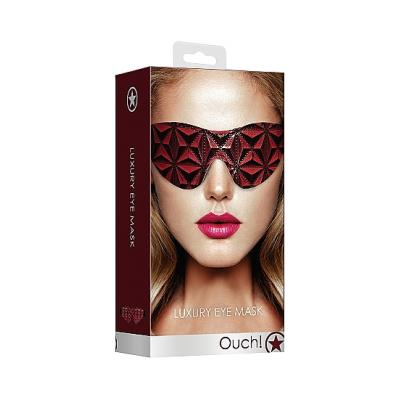 Shots Ouch Luxury Eye Mask Burgundy OU348BUR 8714273928672 Boxview