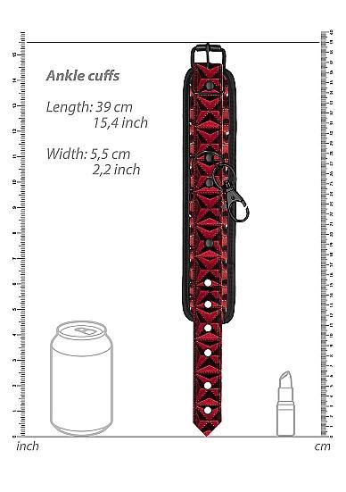 Shots Ouch Luxury Hogtie Set Burgundy OU347BUR 8714273928665 Dimension Detail