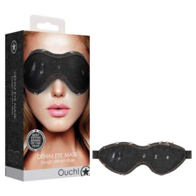 Shots Toys Ouch Denim Eye Mask Black Denim OU476BLK 8714273542717 Multiview